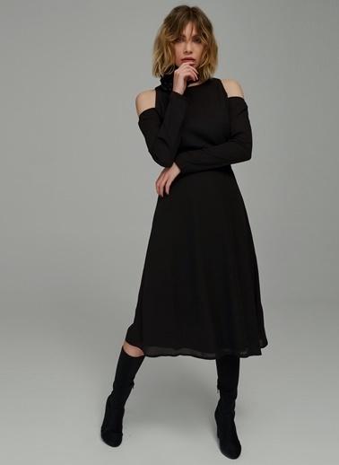 Omuzları Açık Elbise-People By Fabrika